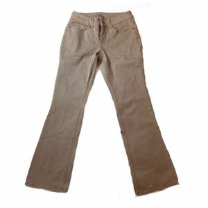 Time and Tru tan cream boot cut flare jeans pants